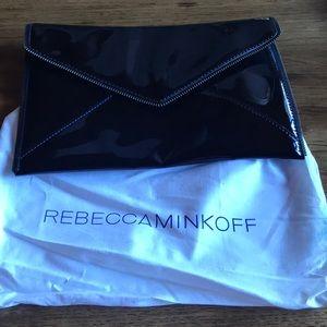 Rebecca Minkoff clutch. Black patent.